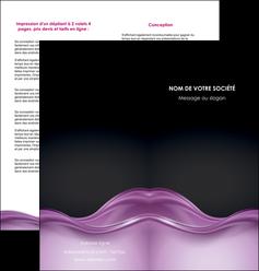 realiser depliant 2 volets  4 pages  web design violet fond violet couleur MLGI72531
