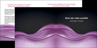 cree depliant 2 volets  4 pages  web design violet fond violet couleur MLGI72533