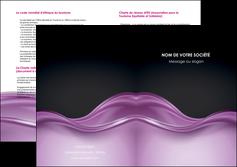 creation graphique en ligne depliant 2 volets  4 pages  web design violet fond violet couleur MLGI72543