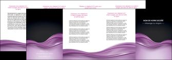 impression depliant 4 volets  8 pages  web design violet fond violet couleur MLGI72545