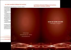 modele en ligne depliant 2 volets  4 pages  rouge couleur couleurs MIS72765