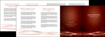 cree depliant 4 volets  8 pages  rouge couleur couleurs MLGI72769