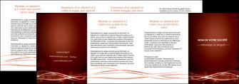 cree depliant 4 volets  8 pages  rouge couleur couleurs MLGI72775