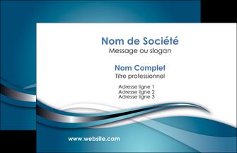 cree carte de visite web design bleu fond bleu couleurs froides MIF72777