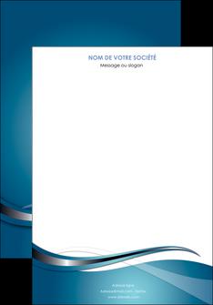 personnaliser maquette affiche web design bleu fond bleu couleurs froides MIF72783