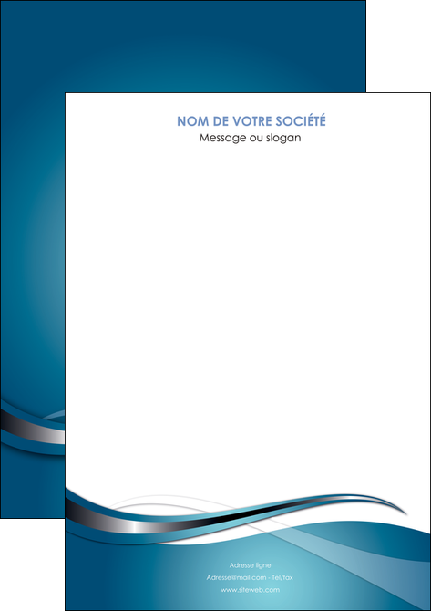 imprimer affiche web design bleu fond bleu couleurs froides MLGI72785