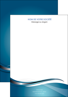 imprimer affiche web design bleu fond bleu couleurs froides MIF72785