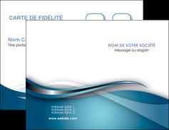 imprimerie carte de visite web design bleu fond bleu couleurs froides MIF72787