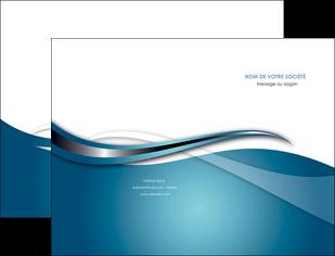 creation graphique en ligne pochette a rabat web design bleu fond bleu couleurs froides MIF72789
