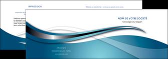 imprimerie depliant 2 volets  4 pages  web design bleu fond bleu couleurs froides MIF72793