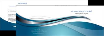 creer modele en ligne depliant 2 volets  4 pages  web design bleu fond bleu couleurs froides MLGI72795