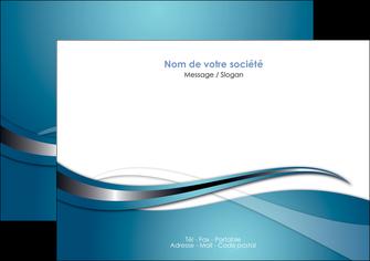 personnaliser maquette flyers web design bleu fond bleu couleurs froides MIF72801