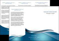creer modele en ligne depliant 3 volets  6 pages  web design bleu fond bleu couleurs froides MLGI72803