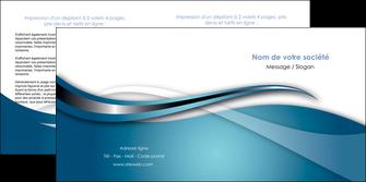 imprimerie depliant 2 volets  4 pages  web design bleu fond bleu couleurs froides MIF72807