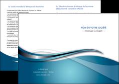 modele en ligne depliant 2 volets  4 pages  web design bleu fond bleu couleurs froides MIF72817