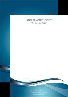 impression affiche web design bleu fond bleu couleurs froides MIF72819