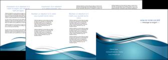 creation graphique en ligne depliant 4 volets  8 pages  web design bleu fond bleu couleurs froides MIF72821