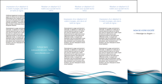 personnaliser modele de depliant 4 volets  8 pages  web design bleu fond bleu couleurs froides MIF72825