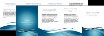 personnaliser maquette depliant 4 volets  8 pages  web design bleu fond bleu couleurs froides MIF72827