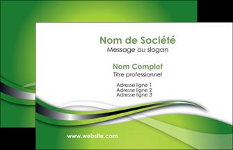 faire carte de visite web design vert fond vert verte MLGI73055