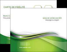 personnaliser modele de carte de visite web design vert fond vert verte MLGI73065