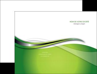 imprimerie pochette a rabat web design vert fond vert verte MLGI73069