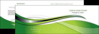 personnaliser maquette depliant 2 volets  4 pages  web design vert fond vert verte MLGI73071