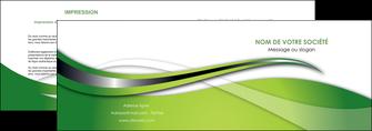 personnaliser modele de depliant 2 volets  4 pages  web design vert fond vert verte MLGI73073
