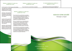creation graphique en ligne depliant 3 volets  6 pages  web design vert fond vert verte MLGI73081