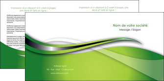 cree depliant 2 volets  4 pages  web design vert fond vert verte MLGI73085