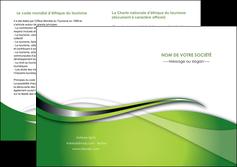 faire modele a imprimer depliant 2 volets  4 pages  web design vert fond vert verte MLGI73095