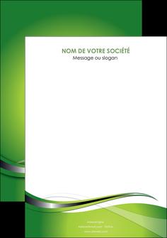 personnaliser modele de flyers web design vert fond vert verte MLGI73101