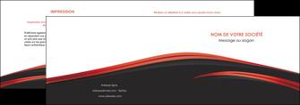 personnaliser modele de depliant 2 volets  4 pages  web design noir fond noir image de fond MIF73227