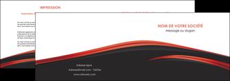 exemple depliant 2 volets  4 pages  web design noir fond noir image de fond MIF73229