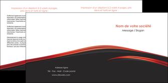 modele depliant 2 volets  4 pages  web design noir fond noir image de fond MLIP73241
