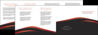 cree depliant 4 volets  8 pages  web design noir fond noir image de fond MLIP73255