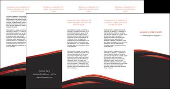 creer modele en ligne depliant 4 volets  8 pages  web design noir fond noir image de fond MIF73259