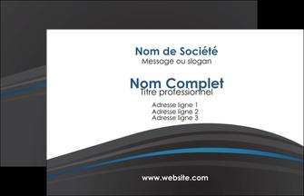 imprimer carte de visite web design gris fond gris fond gris metallise MIF73315