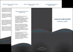 modele depliant 3 volets  6 pages  web design gris fond gris fond gris metallise MIF73341