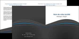 faire depliant 2 volets  4 pages  web design gris fond gris fond gris metallise MIF73345