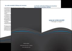 impression depliant 2 volets  4 pages  web design gris fond gris fond gris metallise MIF73355