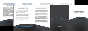 imprimer depliant 4 volets  8 pages  web design gris fond gris fond gris metallise MIF73359