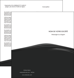 modele depliant 2 volets  4 pages  web design gris fond gris metal MLGI73503