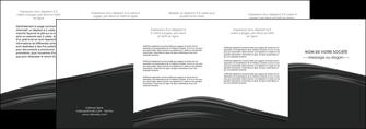 realiser depliant 4 volets  8 pages  web design gris fond gris metal MLGI73517