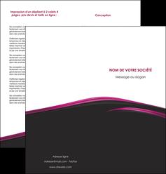 modele en ligne depliant 2 volets  4 pages  noir fond noir image de fond MLGI73555