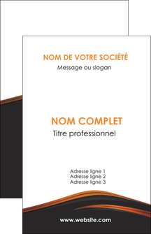exemple carte de visite web design gris fond gris orange MIF73589