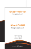 exemple carte de visite web design gris fond gris orange MLIP73589