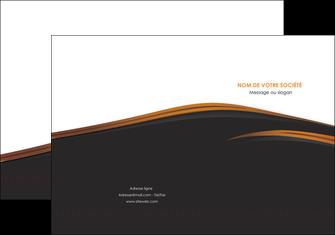 faire modele a imprimer pochette a rabat web design gris fond gris orange MLGI73591