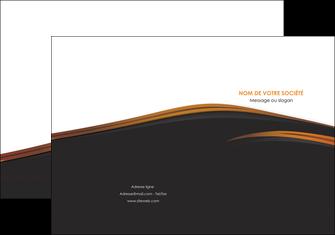 creation graphique en ligne pochette a rabat web design gris fond gris orange MLGI73593