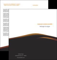 creer modele en ligne depliant 2 volets  4 pages  web design gris fond gris orange MLGI73607